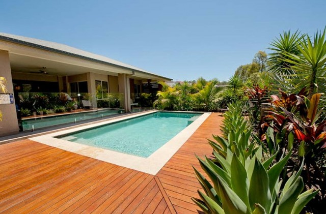 Inground Pool Decking Ideas