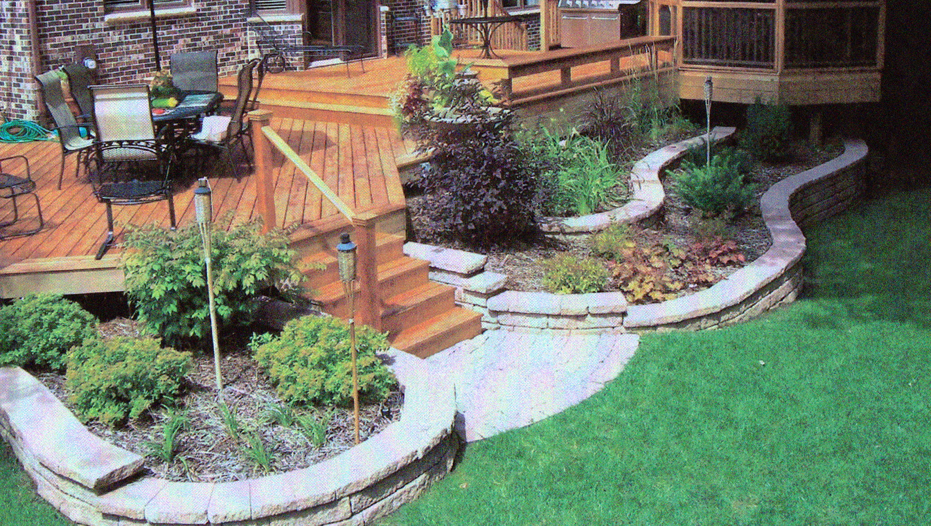 Landscaping Around Low Deck Home Design Ideas