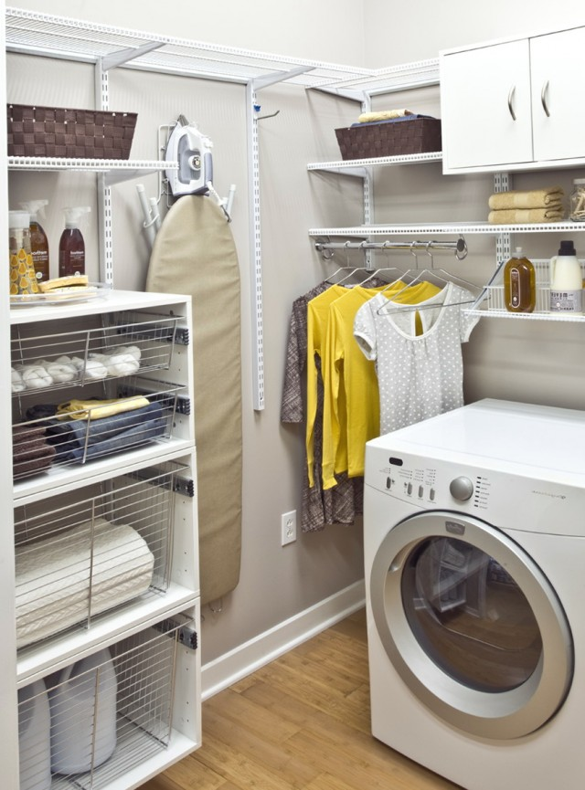 Laundry Closet Organization Ideas