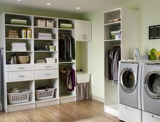 Laundry Closet Storage Ideas