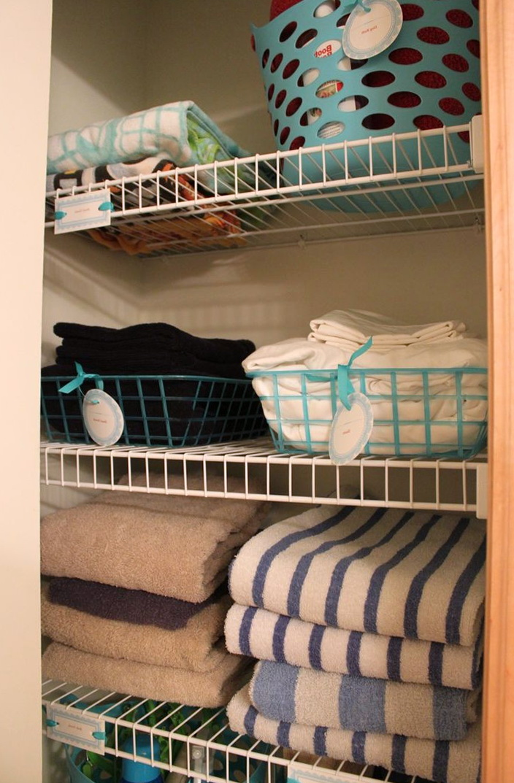 Linen Closet Organization Dollar Store