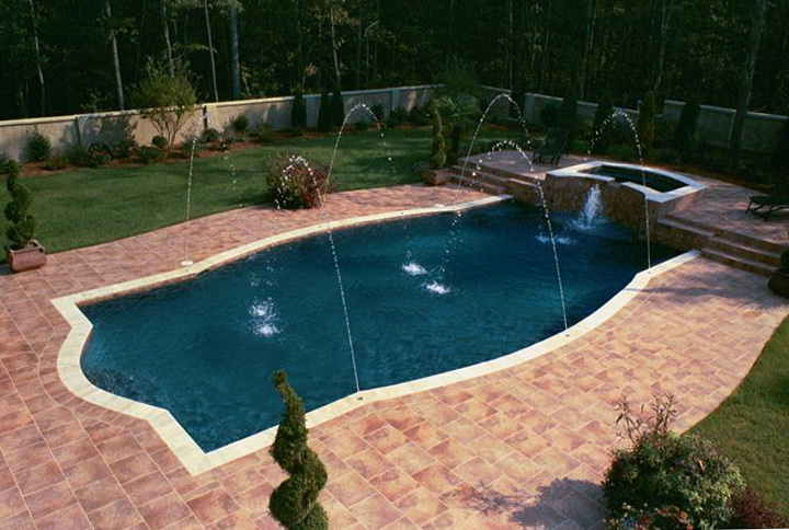 Pool deck options florida home design ideas for Pool design options