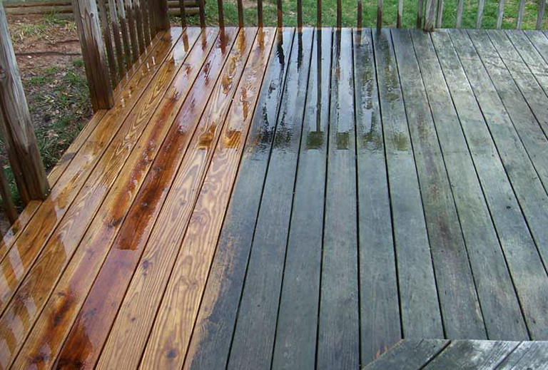 Pressure Wash Deck Before Staining