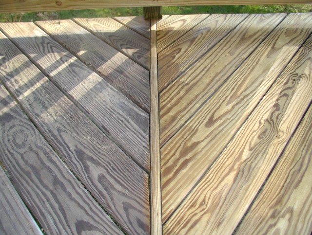 Pressure Washing Deck Before And After