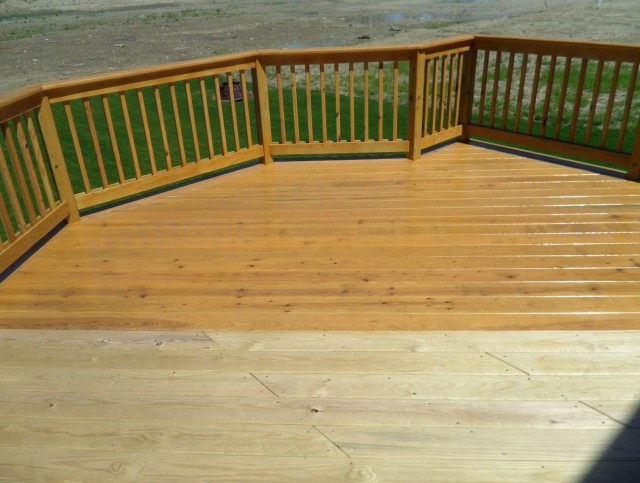 Pressure Washing Decks Before Staining
