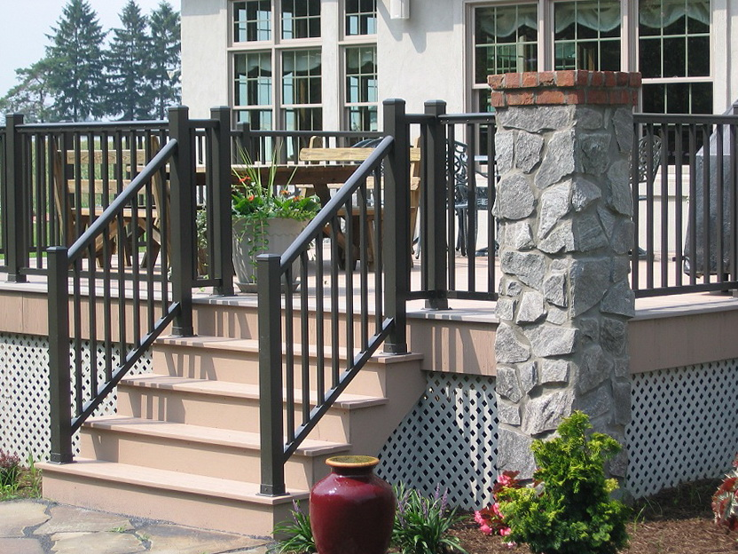 Pvc Deck Railing Home Depot | Home Design Ideas