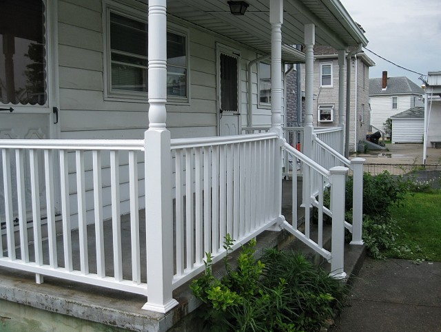 White Pvc Deck Railing Home Design Ideas