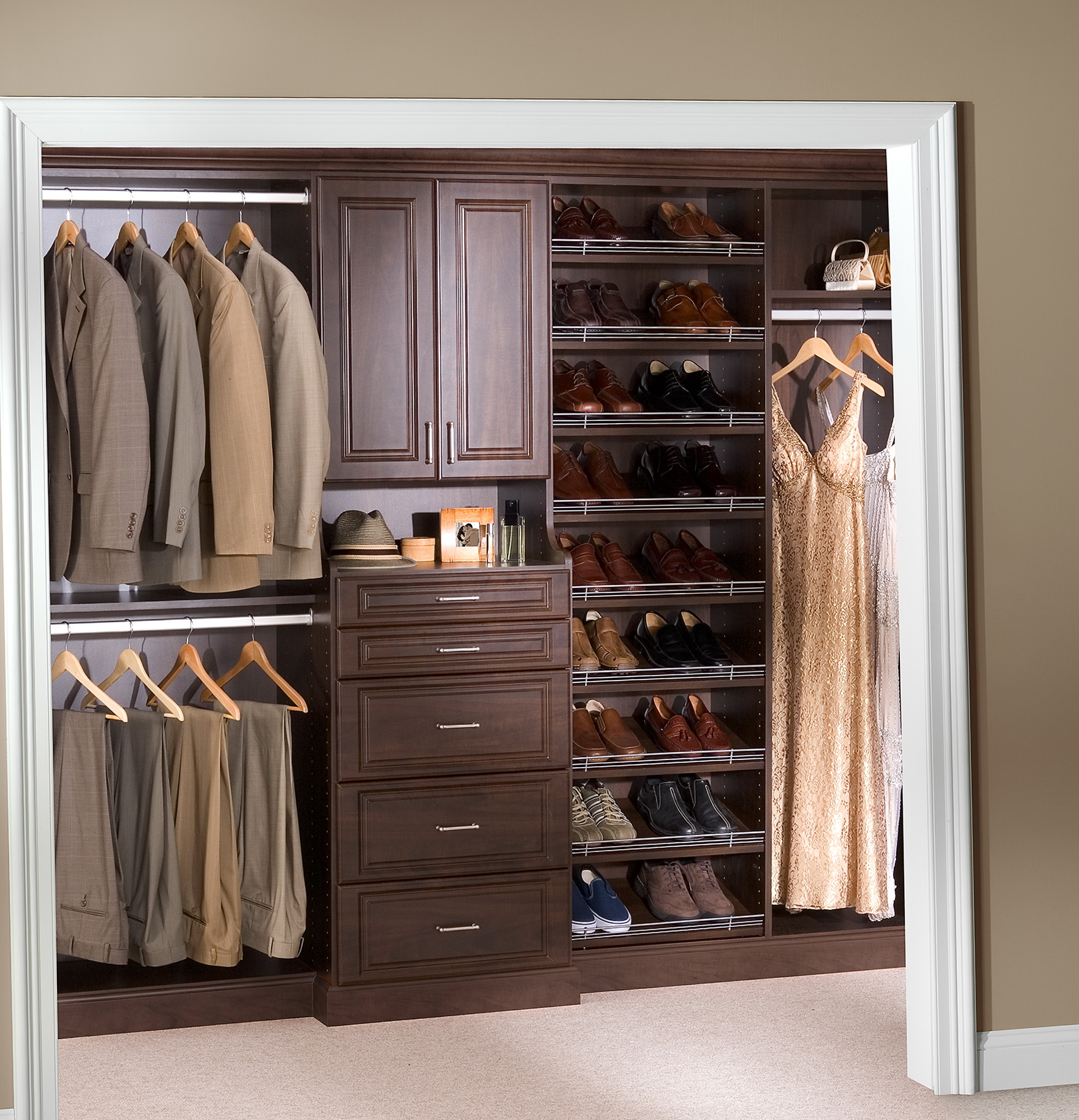 Small closet storage solutions home design ideas for Storage solutions for small closets