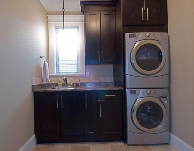 Stacked Laundry Closet Ideas