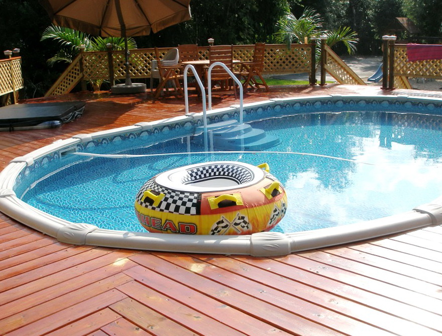 Swimming Pools With Wooden Decks