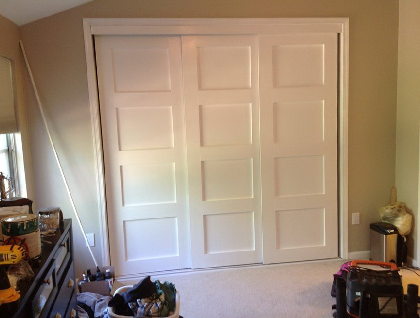 Triple Bypass Closet Doors Home Design Ideas