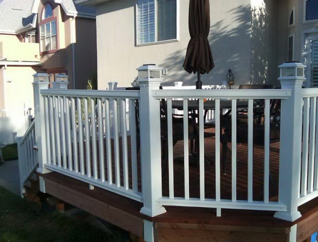 White Composite Decking Material