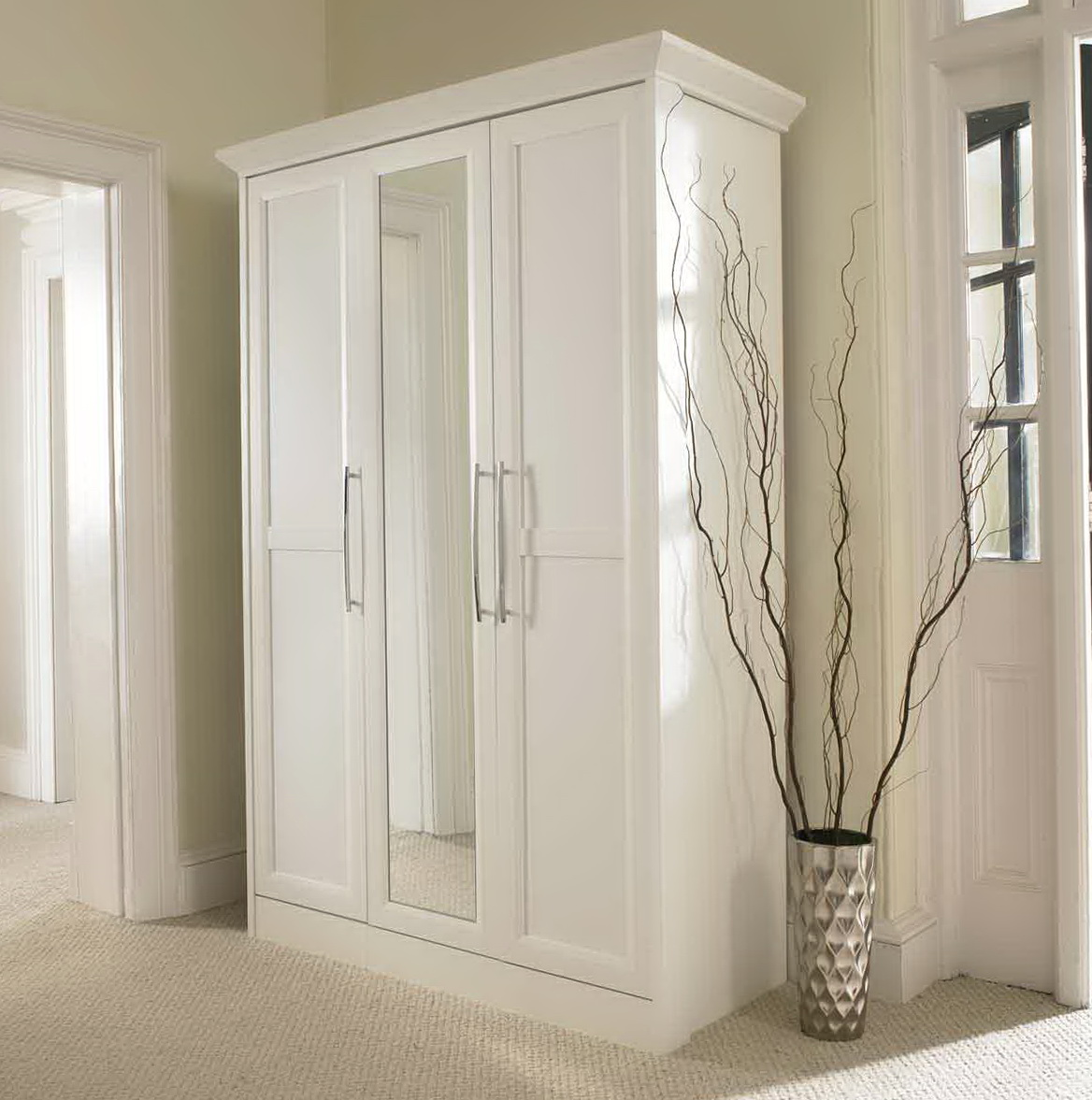 white wardrobe closet white closet with mirror home design ideas 30184