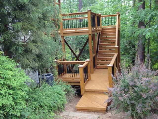 Wood Deck Handrail Designs
