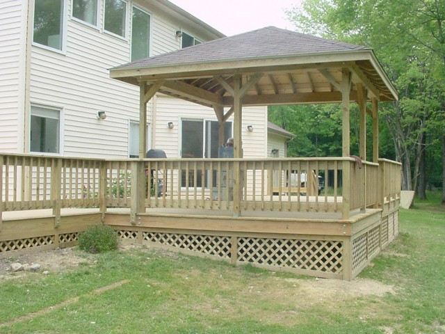 Wood Deck Railing Plans