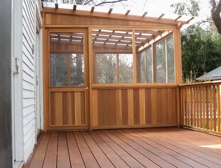 Wood Deck Roof Designs Home Design Ideas