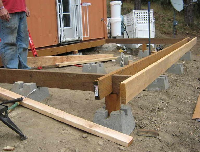 4 215 4 Concrete Deck Blocks Home Design Ideas