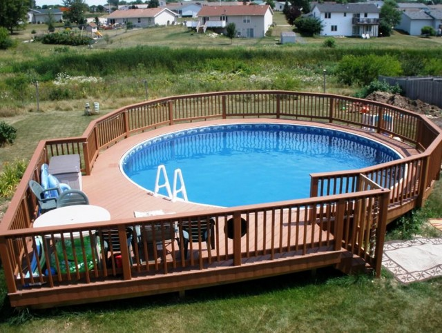 Above Ground Pool Deck Designs Ideas