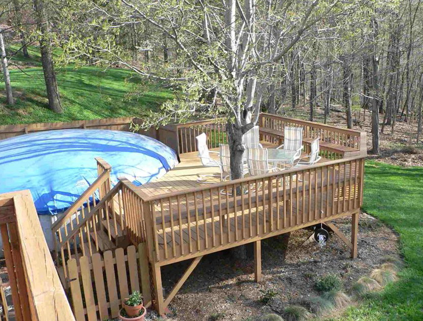 Above ground pool deck ideas on a budget home design ideas for Above ground pool ideas on a budget
