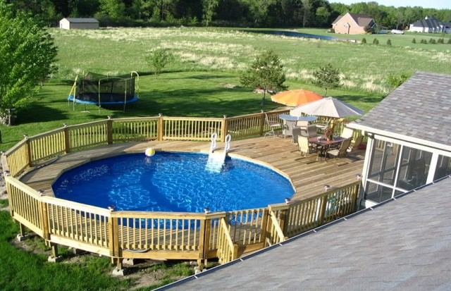 Above Ground Pool Deck Ideas Plans