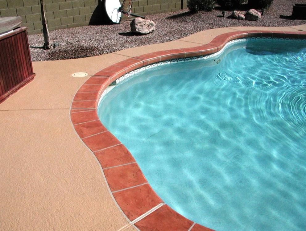 Acrylic Lace Pool Deck Home Design Ideas