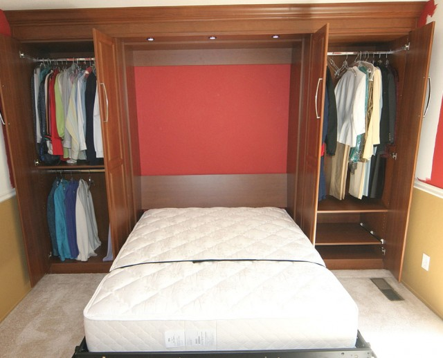 Twin Bed In Closet Home Design Ideas