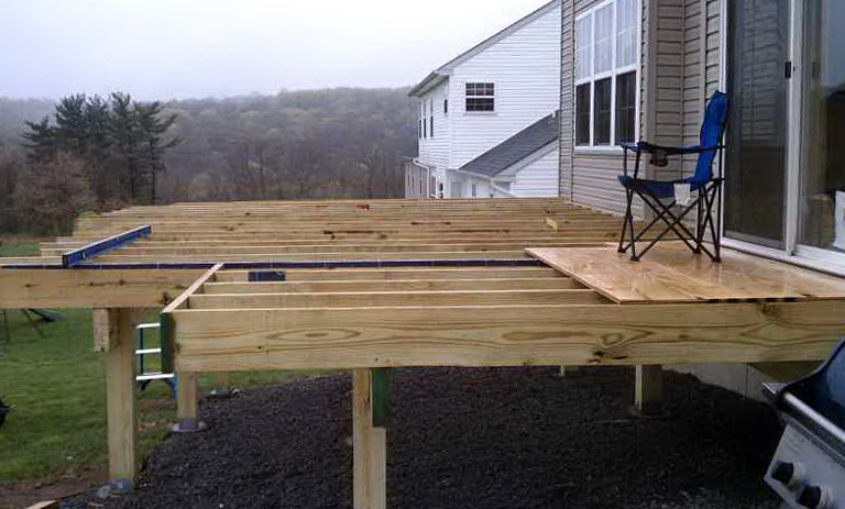 Building A Freestanding Deck Plans Home Design Ideas