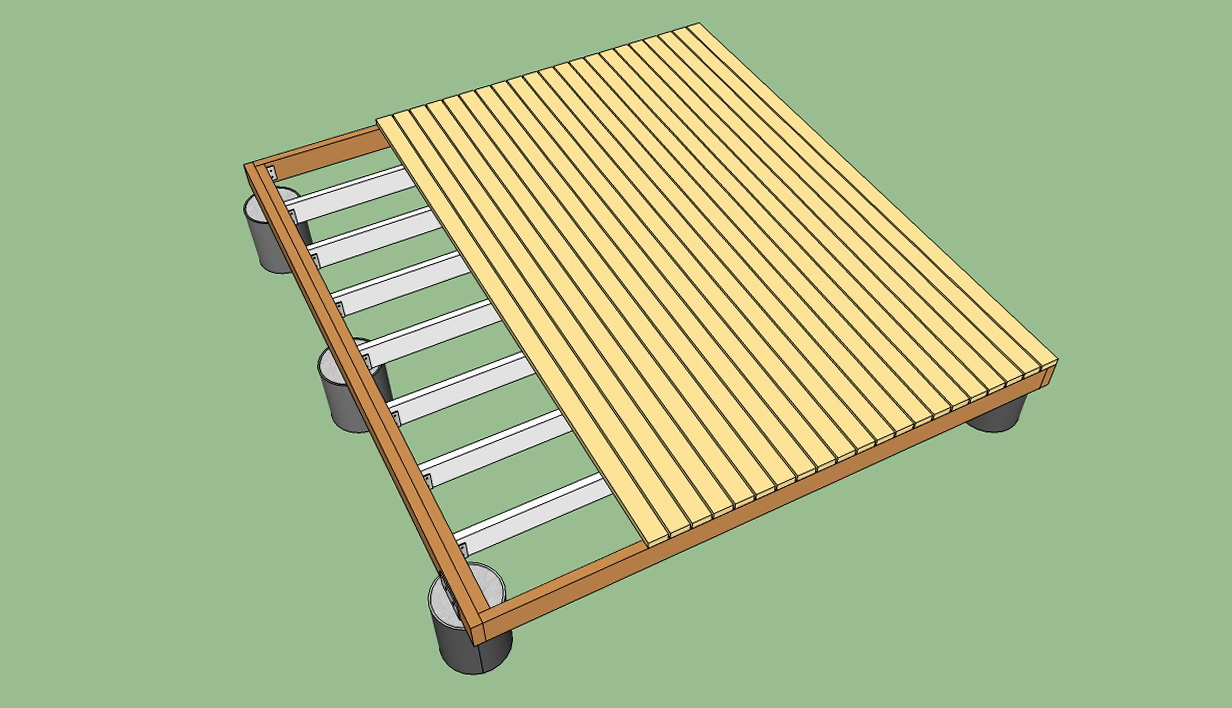 Building A Freestanding Deck Step By Step Home Design Ideas