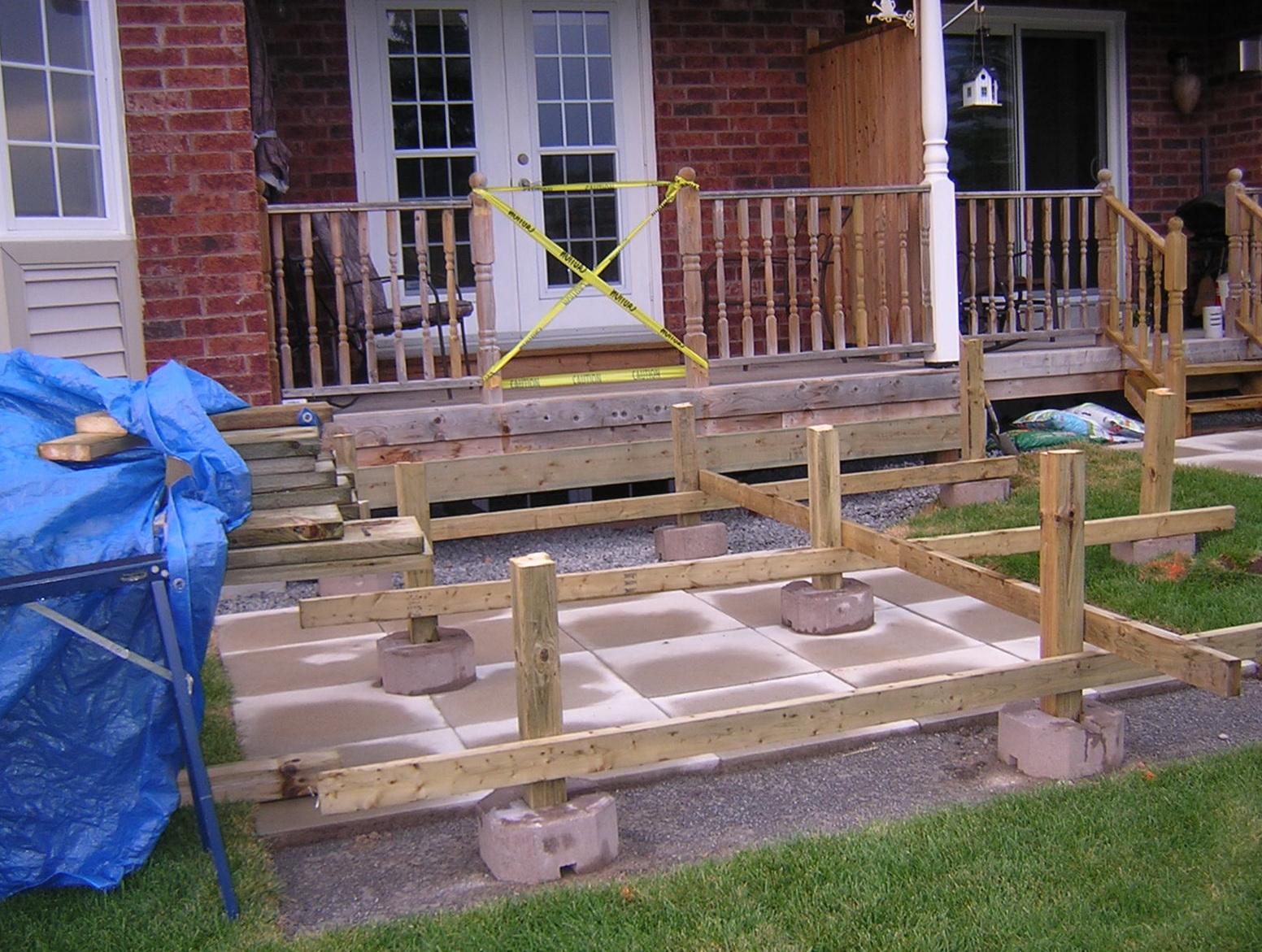 Building A Wood Deck On Top Of A Concrete Patio - Closet ...