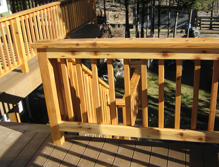 Building A Wood Deck Railing