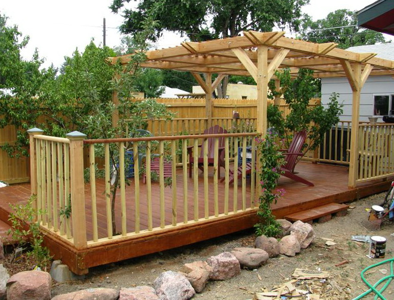 Building A Wood Deck Yourself Home Design Ideas
