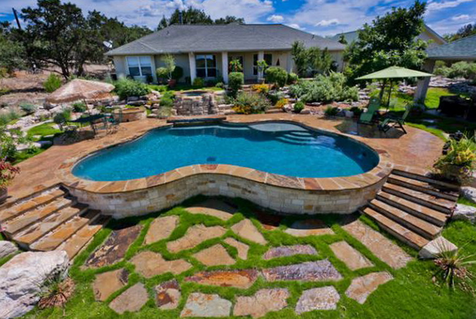 cool above ground pool deck ideas