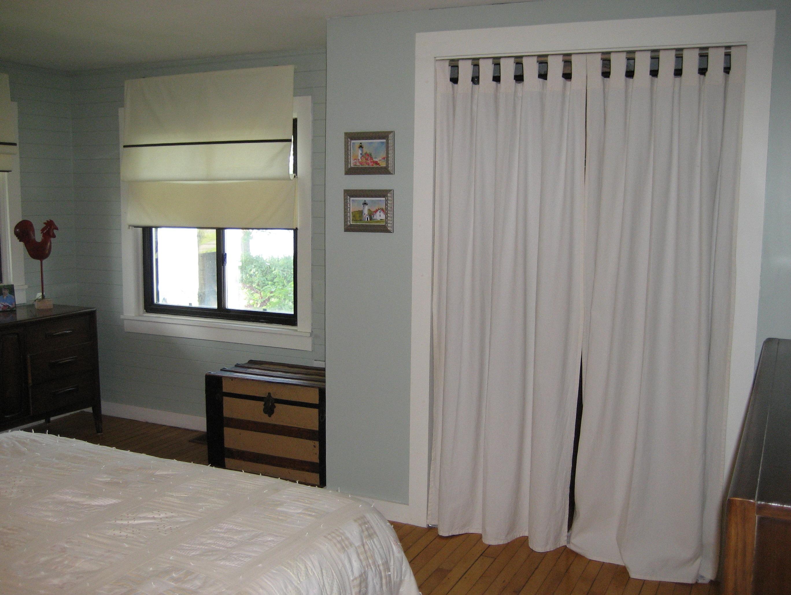 Curtains For Closet Doors Pinterest