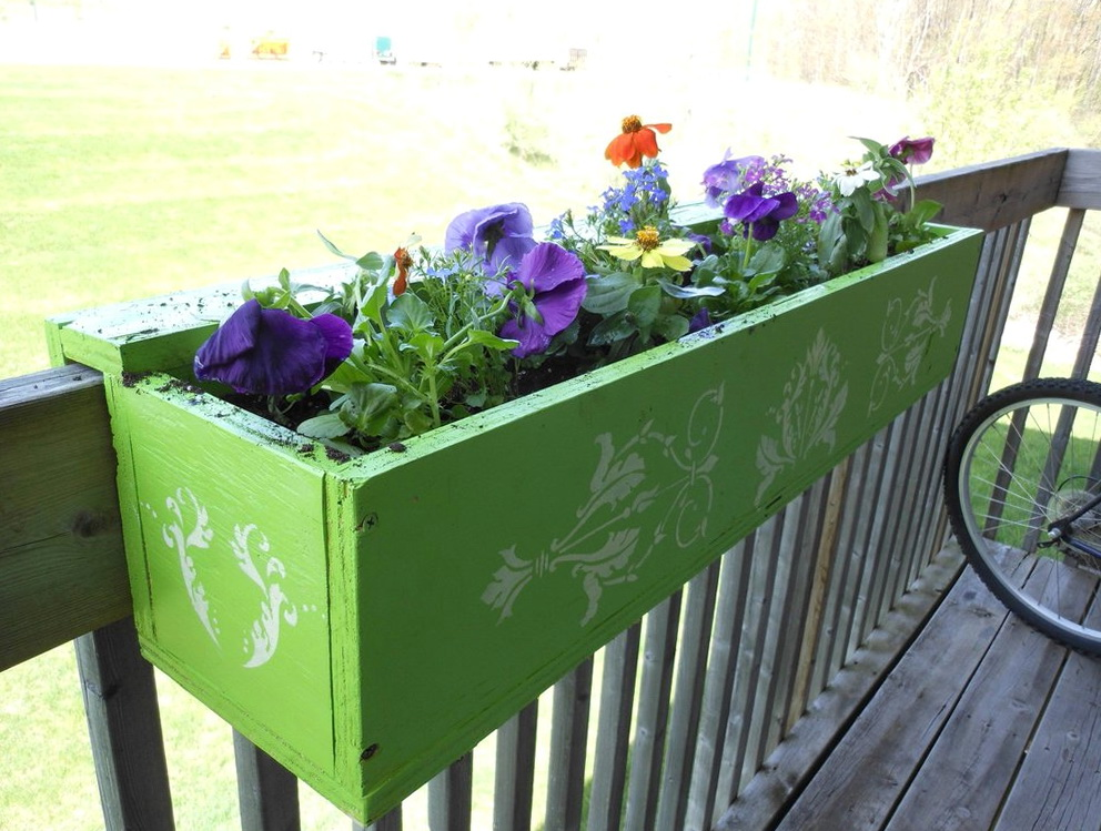 Deck Rail Planters Diy Home Design Ideas