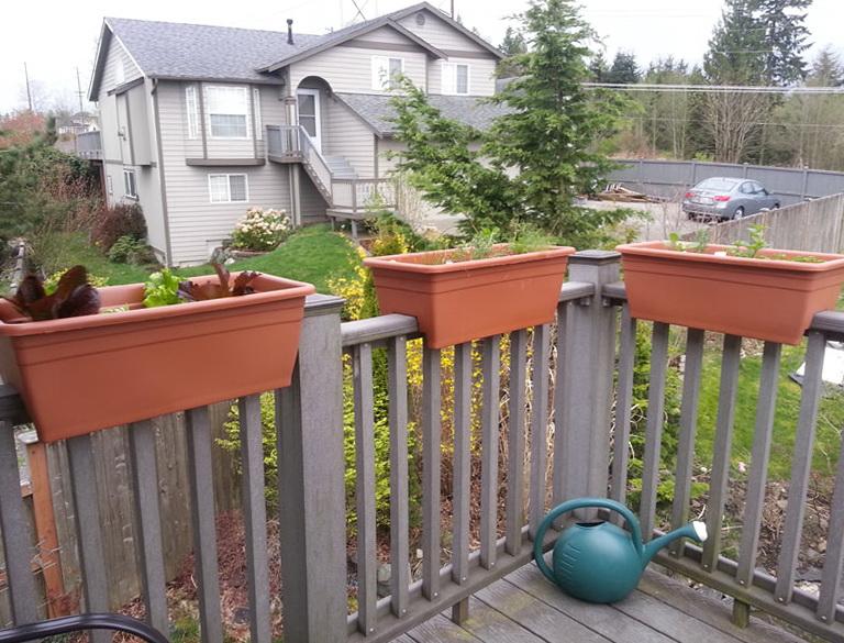 Deck Railing Planters Boxes