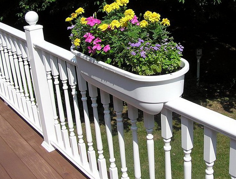 Deck Railing Planters Home Depot Home Design Ideas