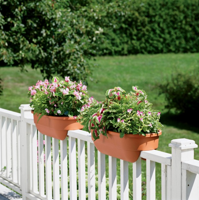 Deck Railing Planters White