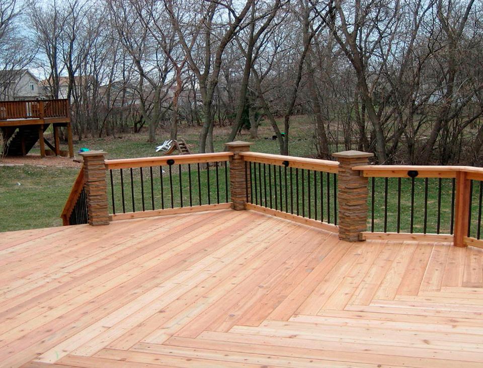 Deck Railing Post Height Home Design Ideas
