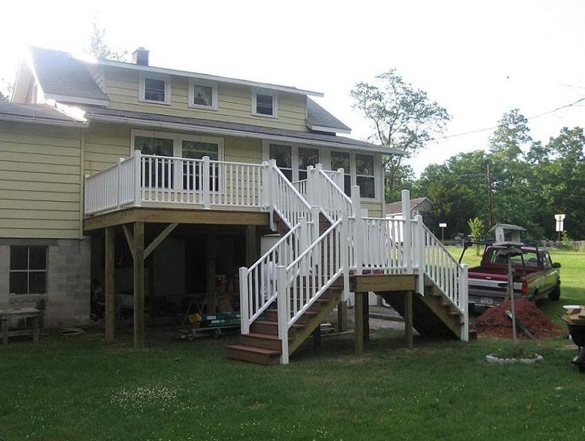 Deck Stairs Railing Height Code