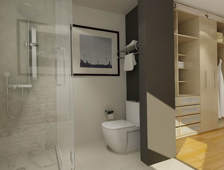 En Suite Bathrooms For Small: Ensuite Bathroom Walk In Closet Plans