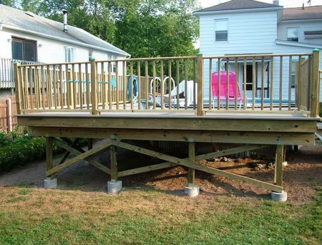 Free Standing Deck Plans