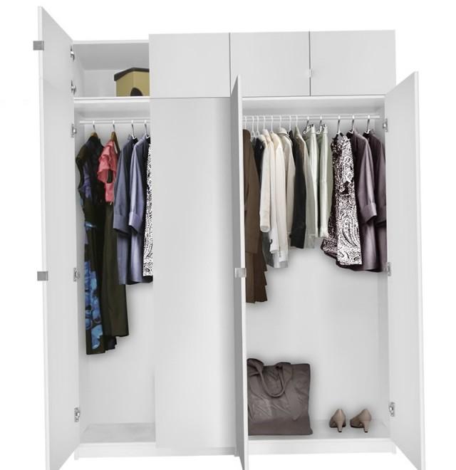 Freestanding Corner Wardrobe Closet