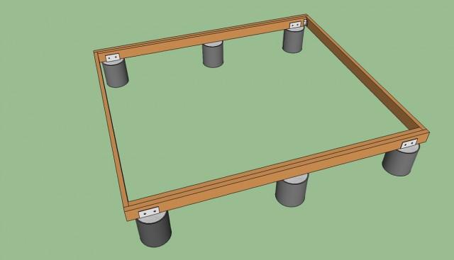 Freestanding Deck Plans Construction