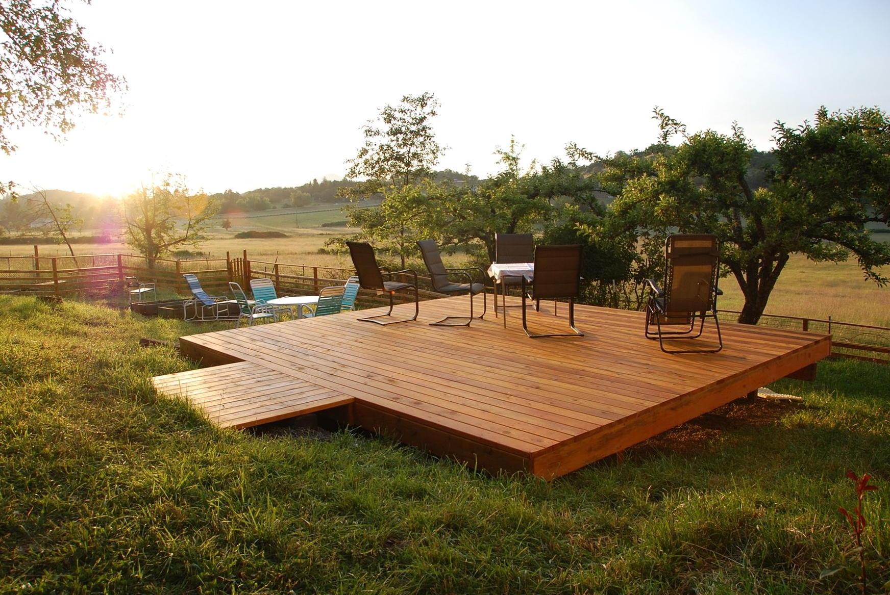 Freestanding Deck Plans Free Home Design Ideas