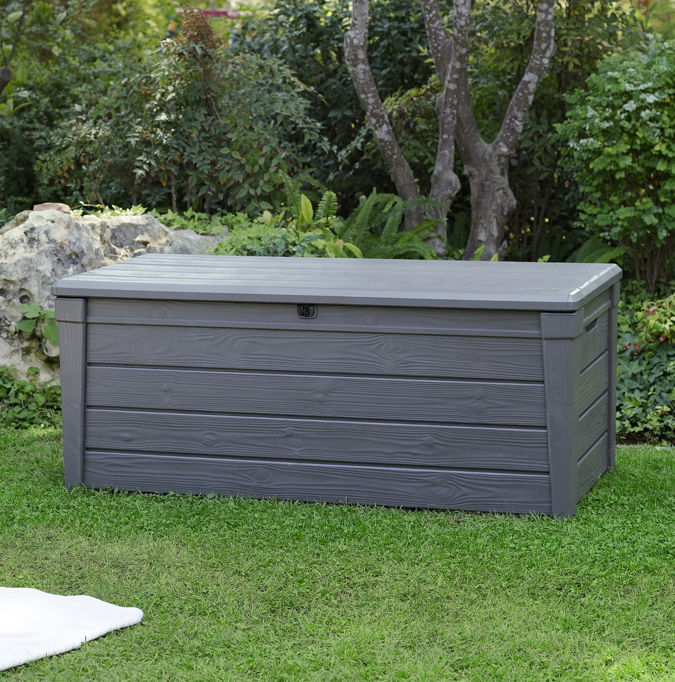 Keter Brightwood Deck Box 120 Gallon
