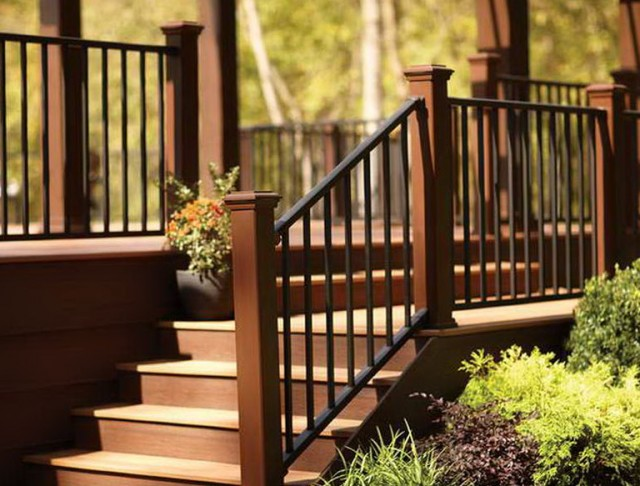 Metal Deck Railings Do It Yourself Home Design Ideas