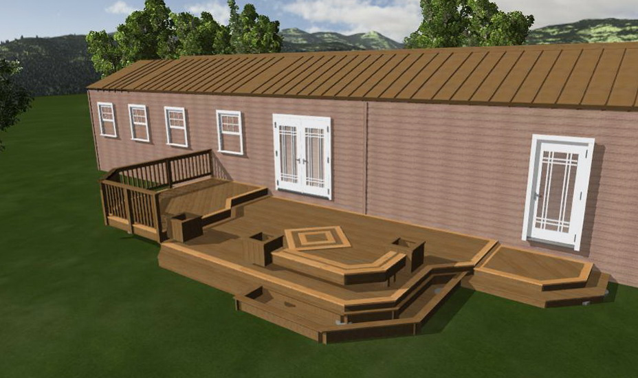 Mobile home deck designs home design ideas - Mobile home deck designs ...