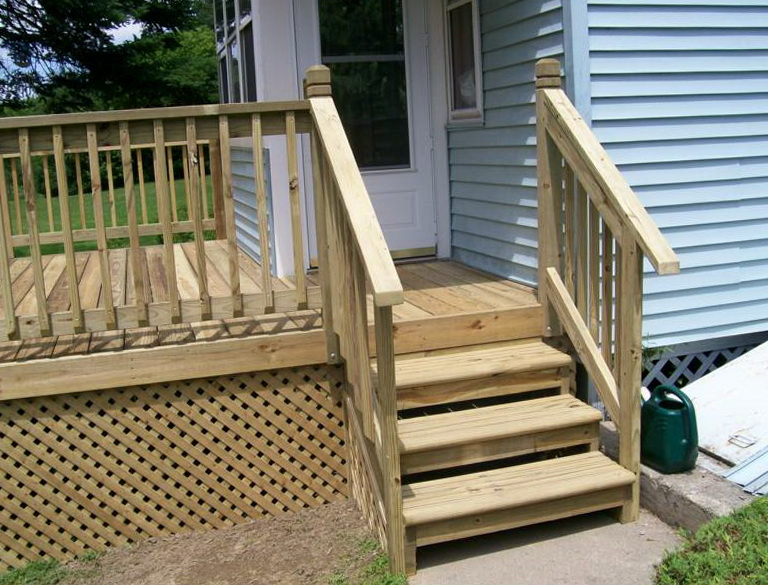 Mobile Home Deck Stairs Home Design Ideas