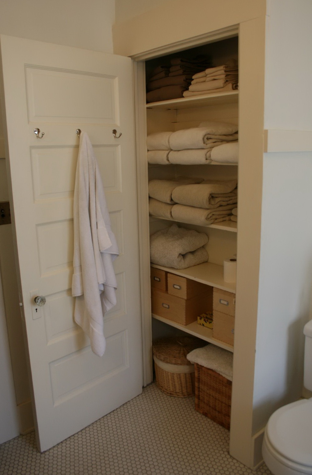 Open Bathroom Closet Ideas