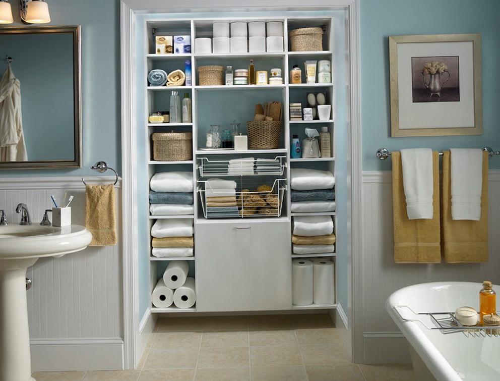 Organize Bathroom Closet Ideas